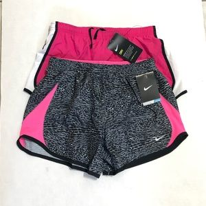 NIKE 2 PCS GIRLS LARGE TRACK SHORTS NWT